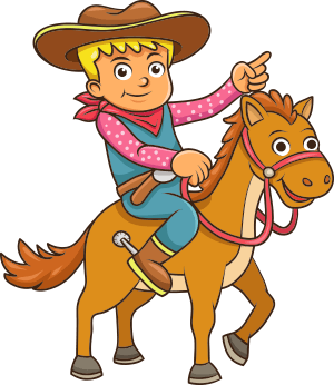 Animated child on a horse