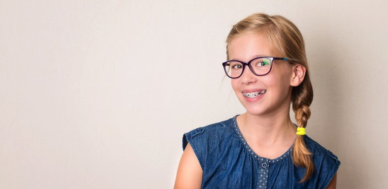 young girl with Phase 1 Orthodontics in Casper